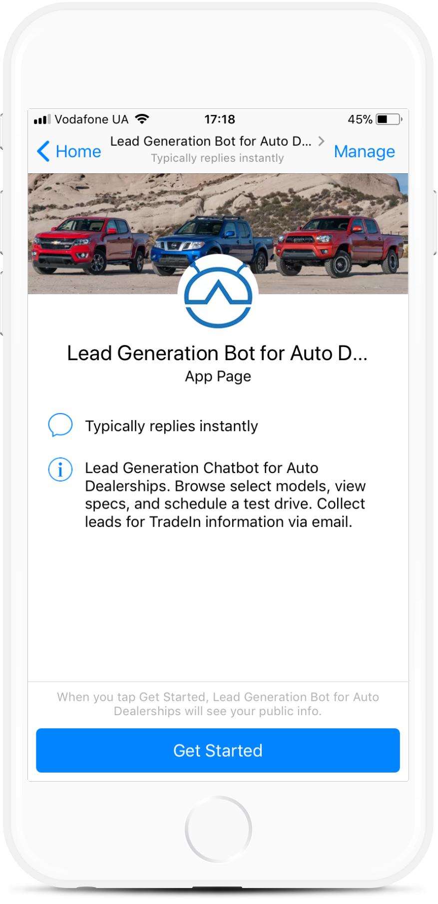 Lead Generation for Auto Dealerships bot screenshot