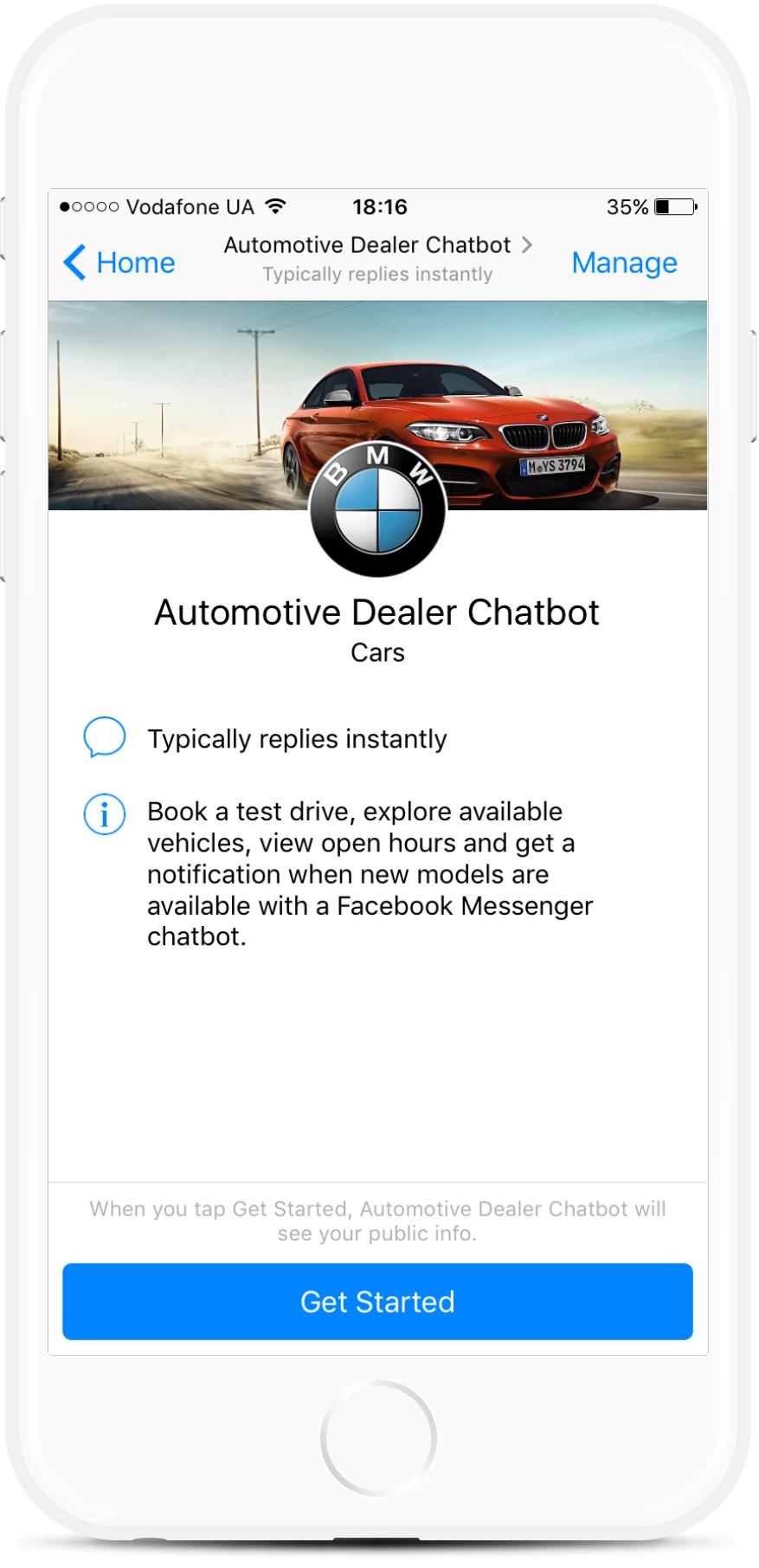 Automotive Dealer Chatbot bot screenshot