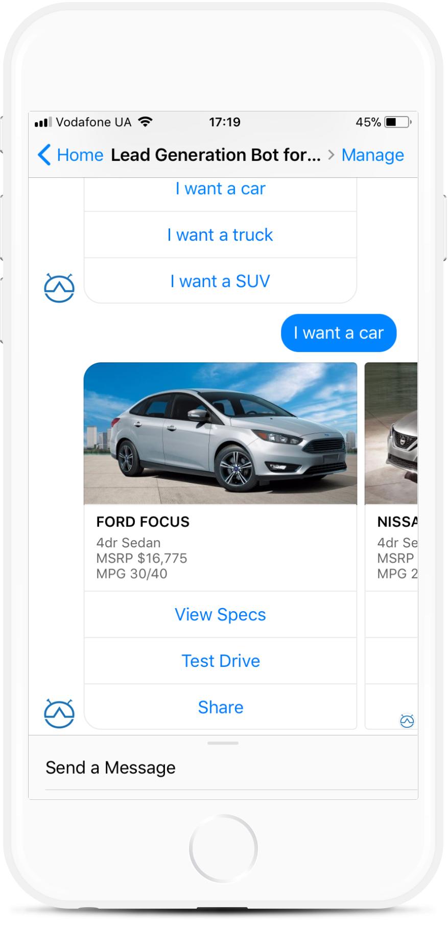 Auto Bot for Auto Dealerships for $35   #messenger #bottemplates #bots #chatbots #aibots #fbmessenger #botmakers