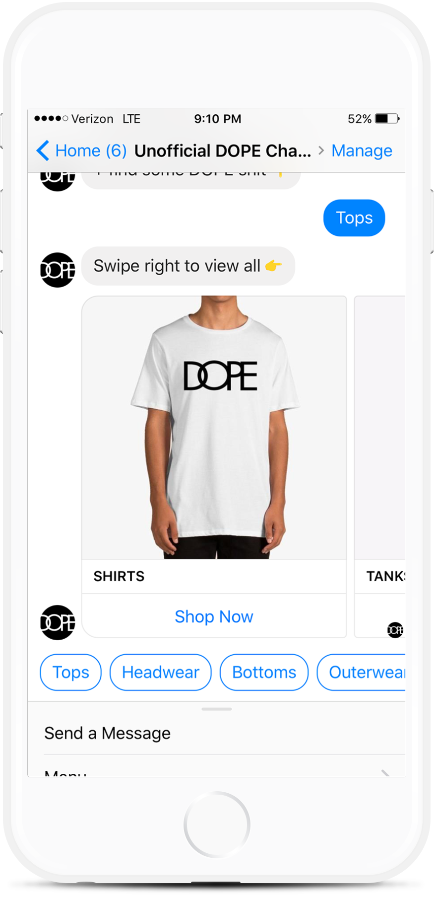 Facebook Messenger Chatbot for Clothing Retailers