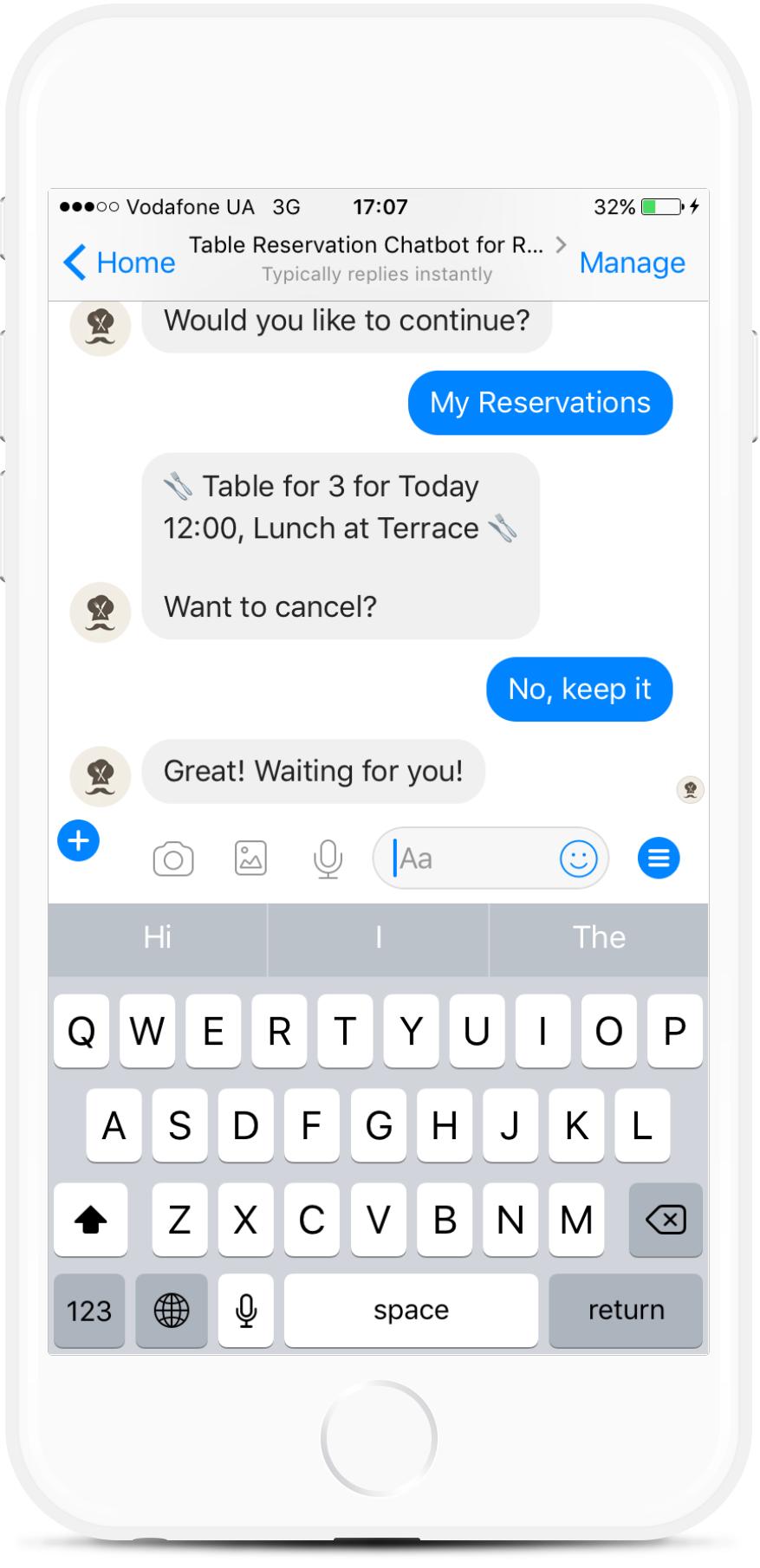 Restaurant Table Reservation Chatbot for Facebook Messenger for $29   #messenger #bottemplates #bots #chatbots #aibots #fbmessenger #botmakers