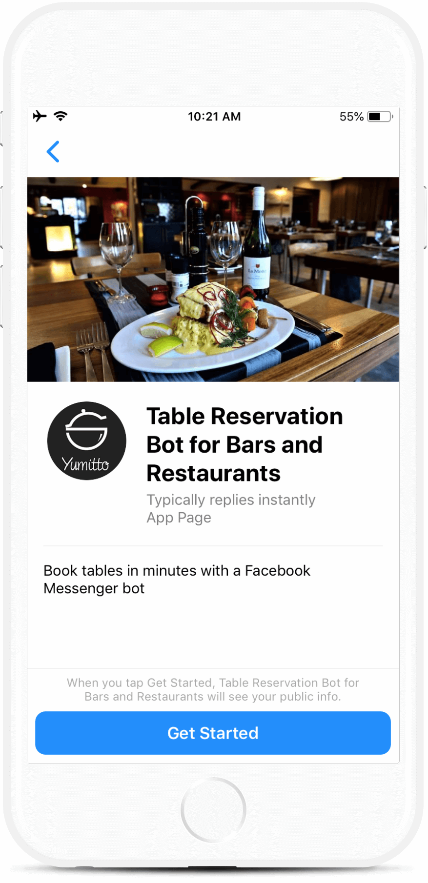 Table Reservation Bot for Bars and Restaurants - Botmakers