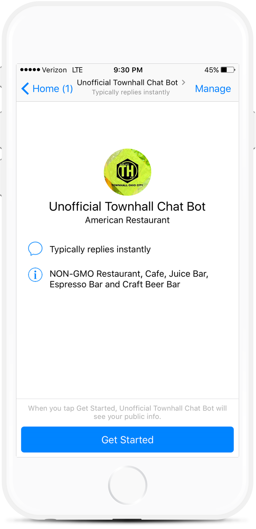 Ordering Assistant Facebook Messenger Chatbot For Restaurants