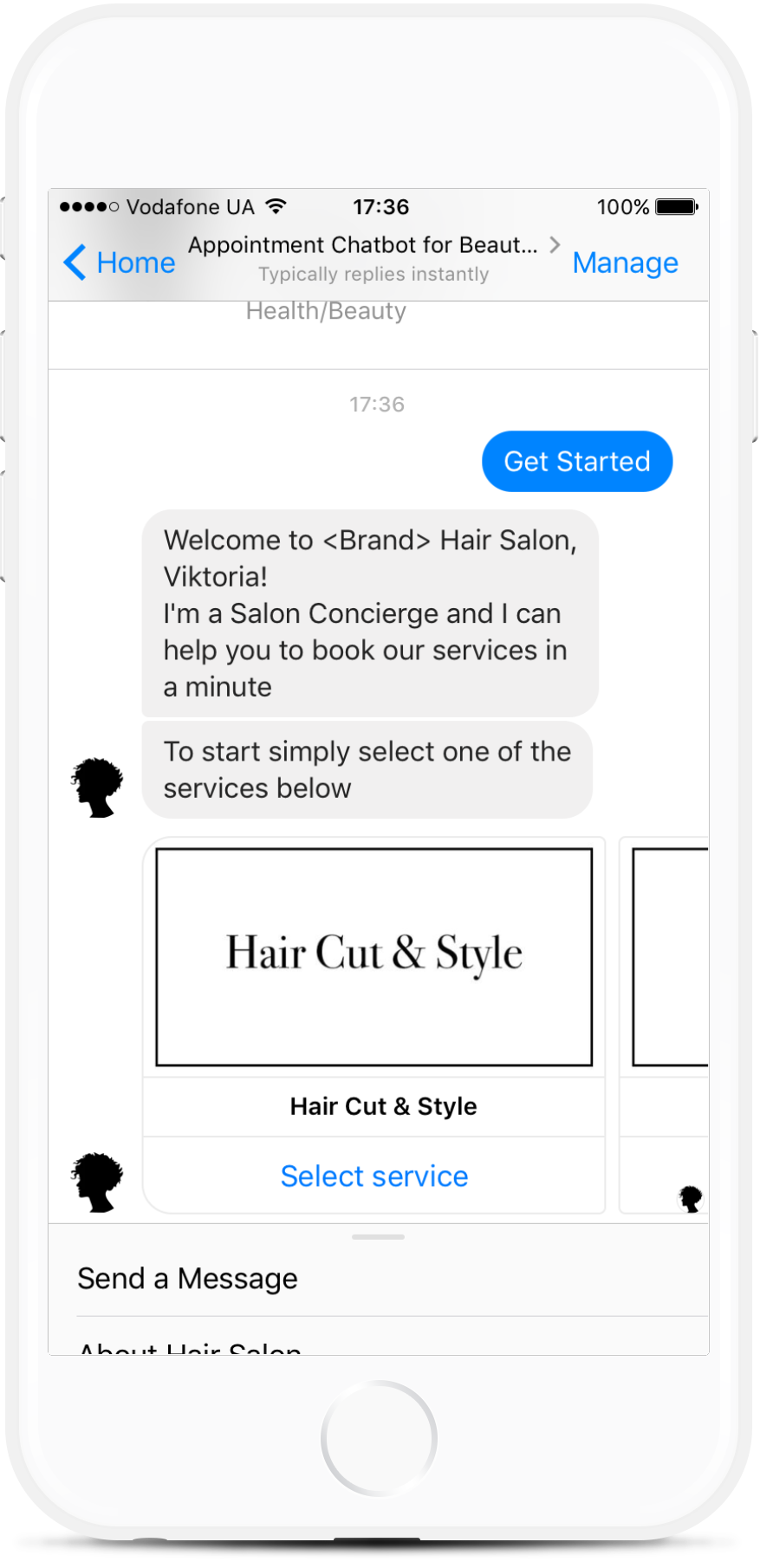 Facebook Appointment Chatbot for Hair Salon from $16/mo   #messenger #bottemplates #bots #chatbots #aibots #fbmessenger #botmakers