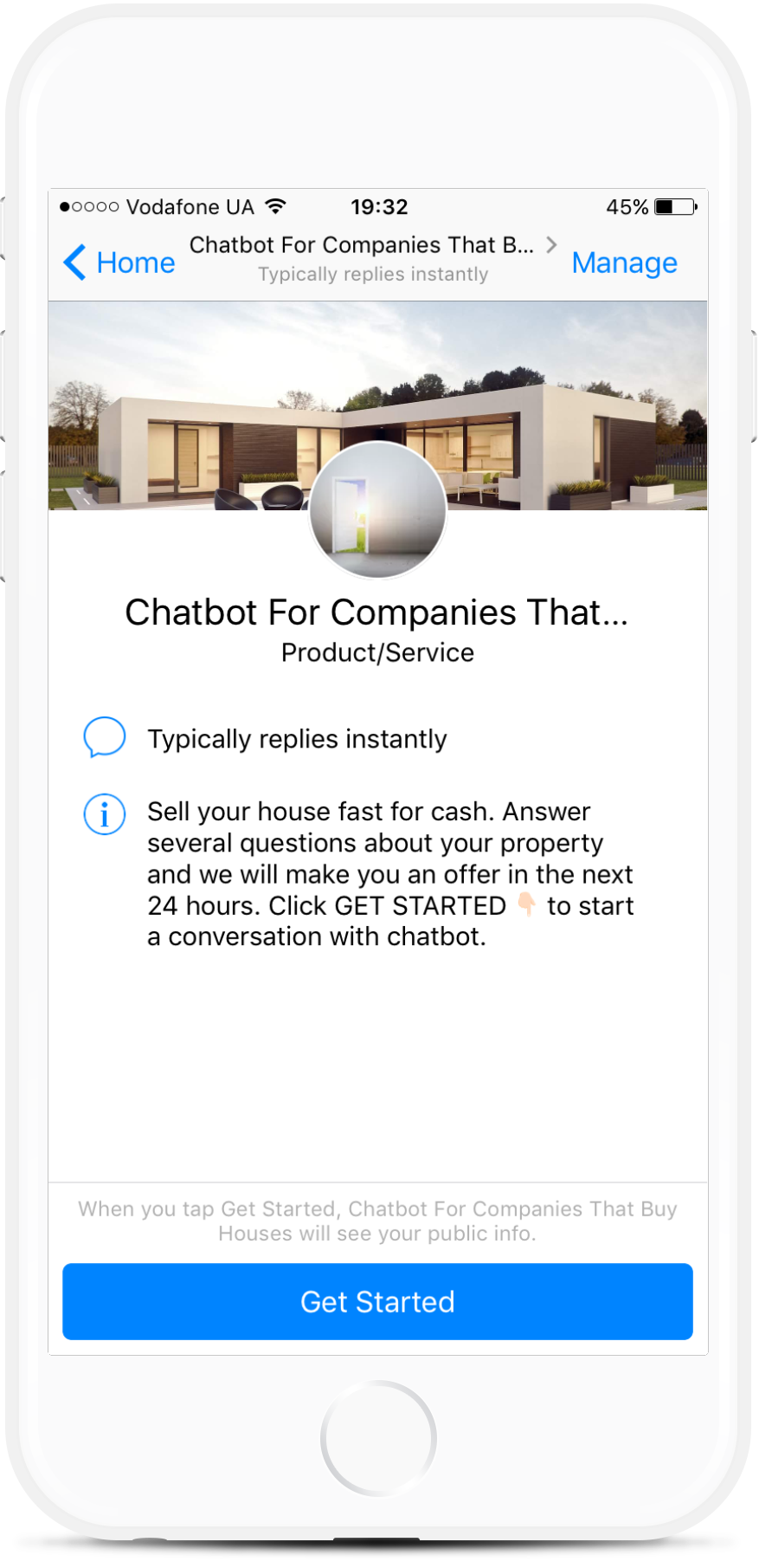Lead Generation Chatbot For Companies That Buy Houses