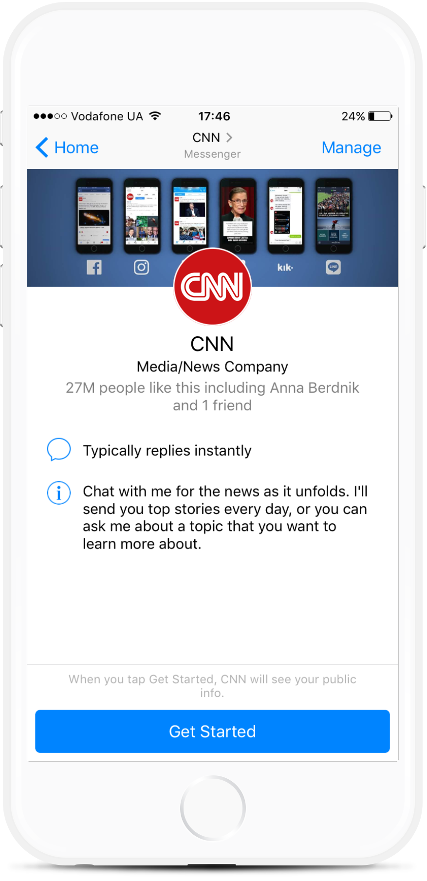 News Facebook Chatbot for Publications